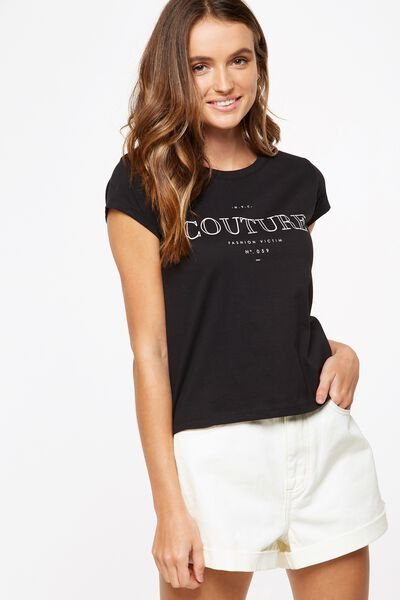 Tbar Friends Graphic Tee, COUTURE/BLACK