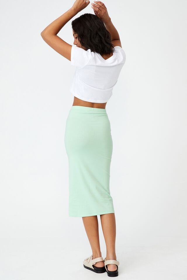 Essential Midi Skirt, SPRING MINT