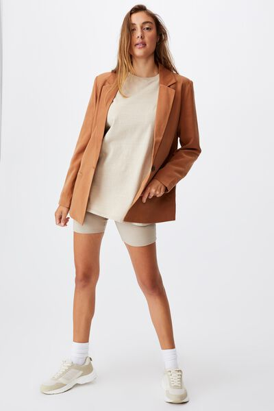 Ultimate Casual Blazer, BRONZED BROWN