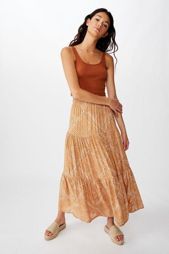 Jasmine Maxi Skirt, BILLIE SPLICED GEO LION