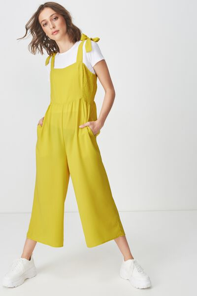 Woven Alexa Strappy Jumpsuit, ANTIQUE MOSS