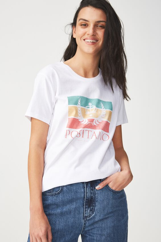 Tbar Fox Graphic T Shirt, POSITANO/WHITE