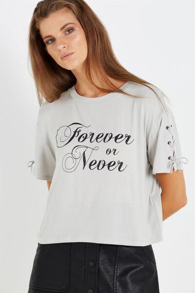 Allycia Chop Tee, FOREVER OR NEVER/SILVER MARLE