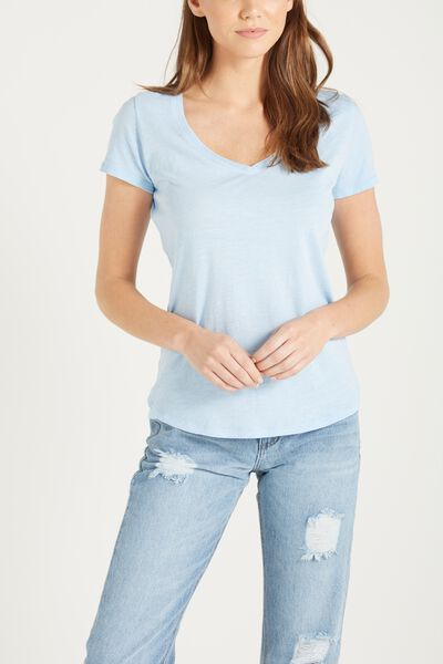 The Deep V, WASHED AGERON BLUE