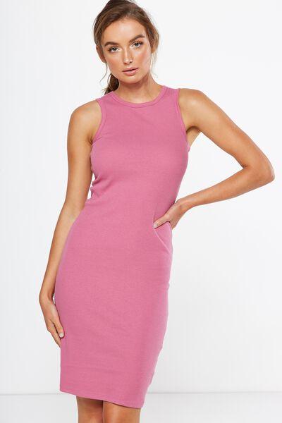 Lena Midi Dress, JAZZBERRY RIB