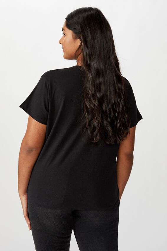 Curve Graphic License Tee, RIDE THE WIND/BLACK