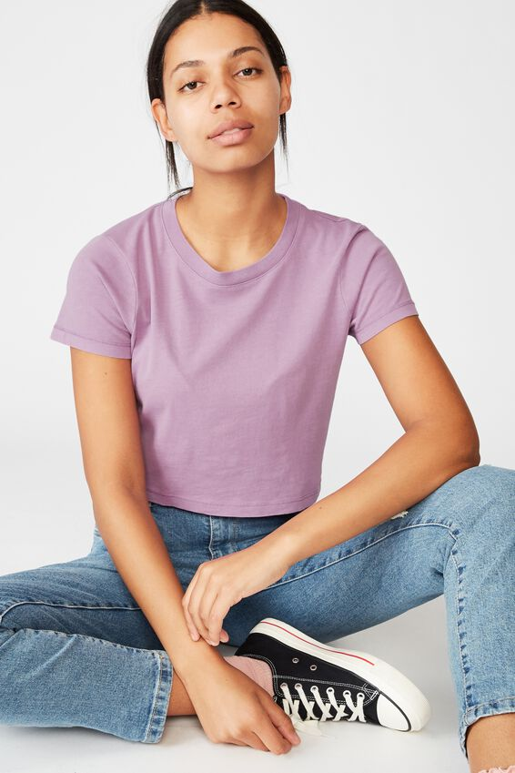 The Baby Tee, WASHED LAVENDER