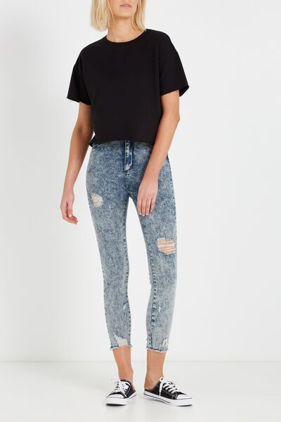 High Rise Grazer Skinny Jean, SURF BLUE ACID