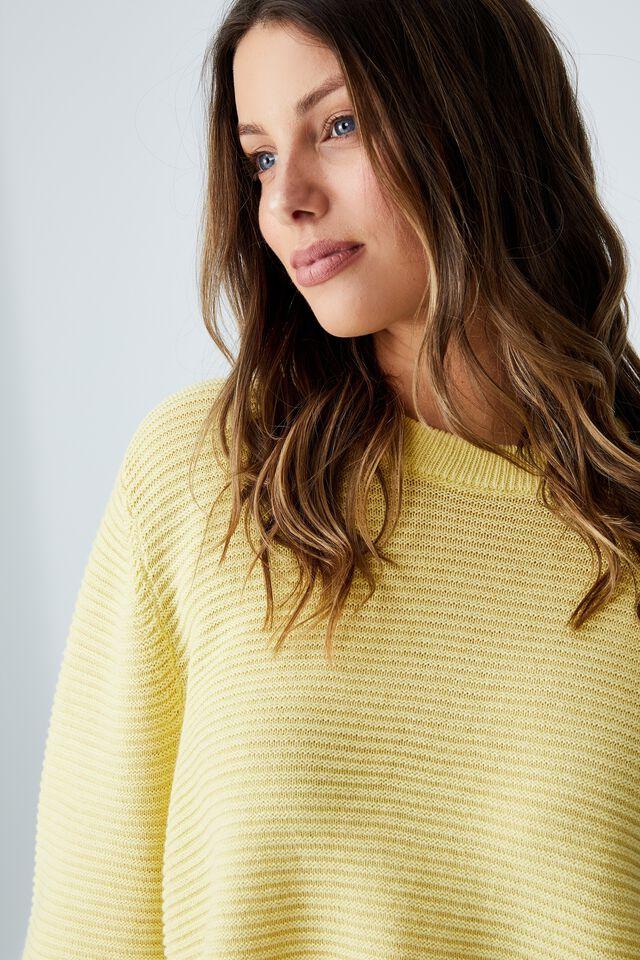 Cotton Cropped Pullover, WINTER CHARTREUSE ZESTY LEMON TWIST