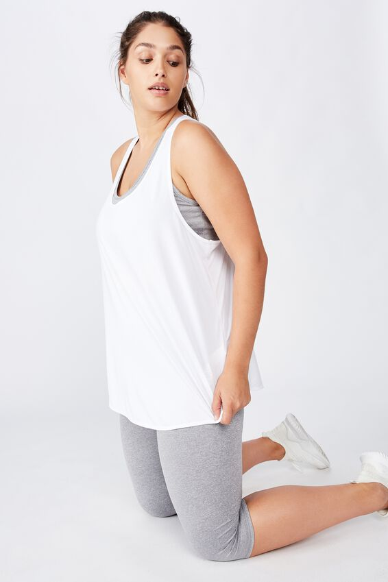 Curve Training Tank Top, WHITE
