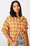 Boyfriend Shirt, ALEXA CHECK BAMBOO