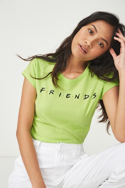 Tbar Rachael Graphic Tee Shirt, LCN FRIENDS/GREEN GLOW