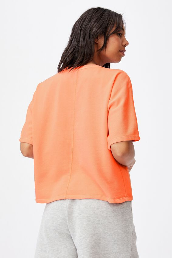 Clubhouse Ss Fleece, PEACH PALM GARMENT PIGMENT DYE