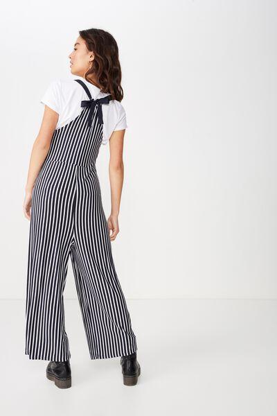 Cass Tie Back Jumpsuit, BEAU STRIPE NAVY/WHITE