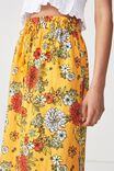 Woven Marnie Midi Skirt, LISA FLORAL FLAME ORANGE