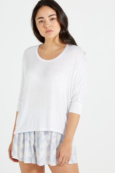 Bianca Long Sleeve Top, WHITE