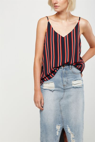 Astrid Cami, KELLY VERTICAL STRIPE NAVY
