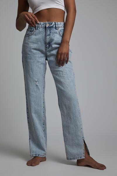 Straight Split Jean, AVALON BLUE