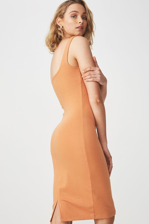 Kimi Scooped Bodycon Midi Dress, SAHARA