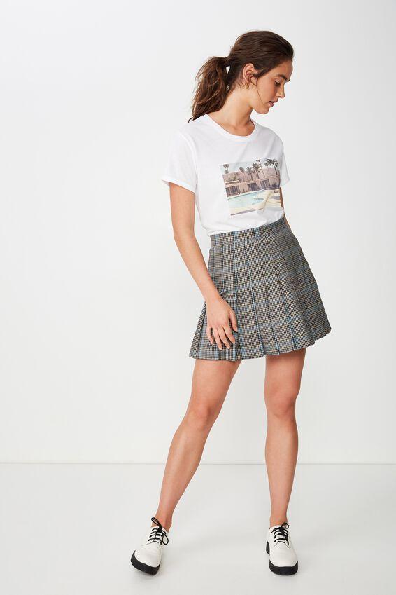 Classic Photo T Shirt, PALM SPRINGS/WHITE