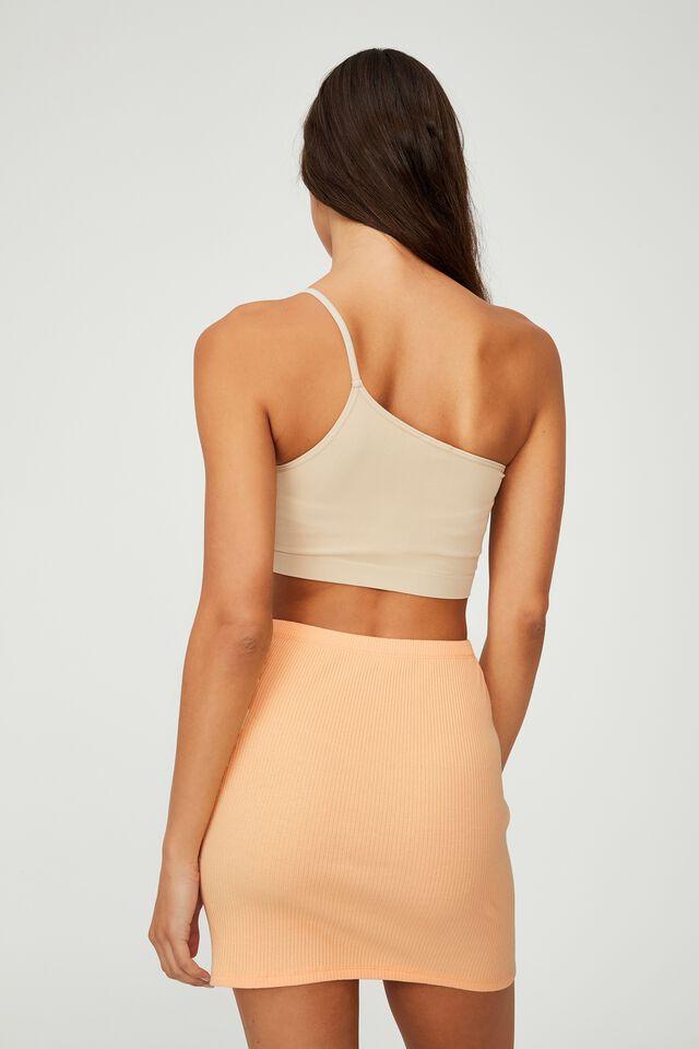 Streamline Ribbed Mini Skirt, BRUSHED APRICOT