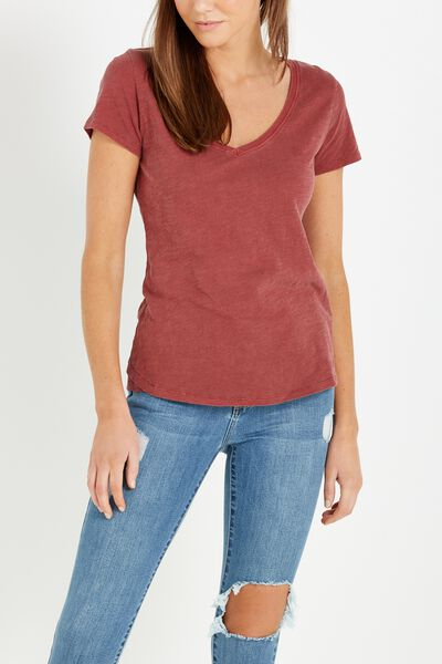 The Deep V, WASHED GARNET