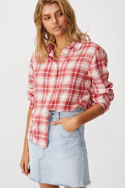 Everyday Shirt, MARLOWE CHECK MINERAL RED