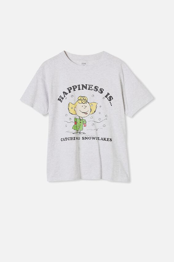 Classic Christmas License T Shirt, LCN PEA PEANUTS HAPPINESS/SILVER MARLE