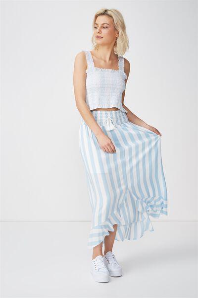 Woven Hayley High Low Midi Skirt, ANNA STRIPE ANGEL FALLS