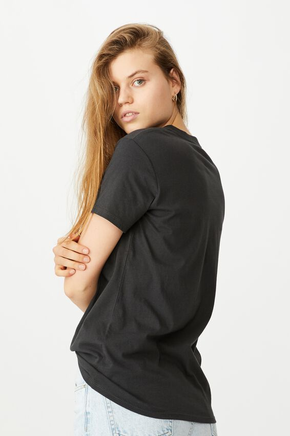 Classic Mickey And Co T Shirt, LCN DIS MICKEY REPEAT/WASHED BLACK