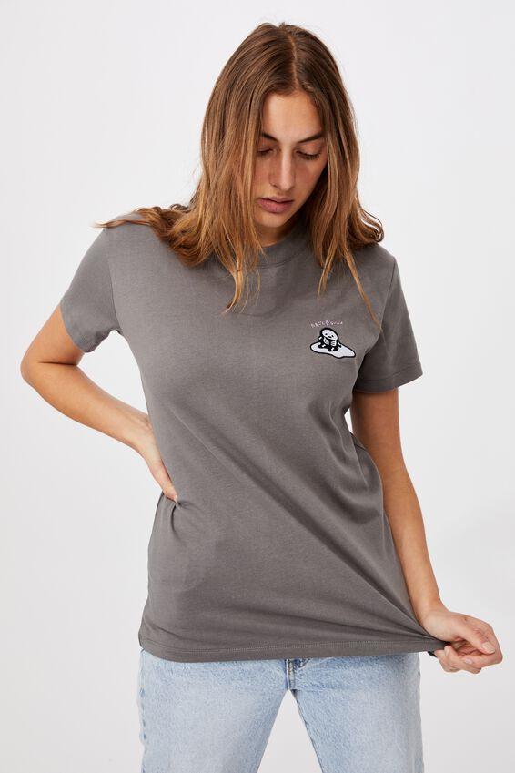 Classic Pop Culture T Shirt, LCN SAN GUDETAMA SKELETON/GUNMETAL