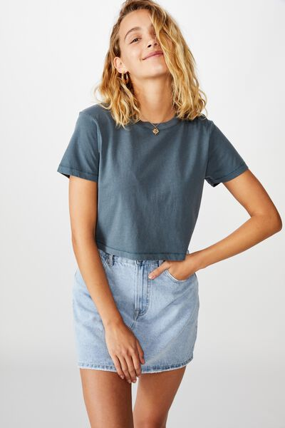 The One Baby Tee, WASHED MIDNIGHT NAVY