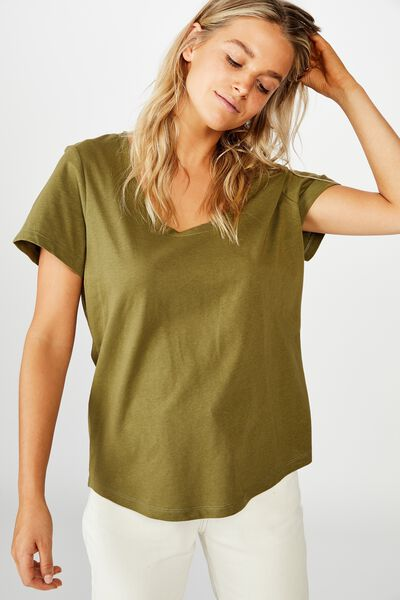The One Scoop Tee, WINTER MOSS
