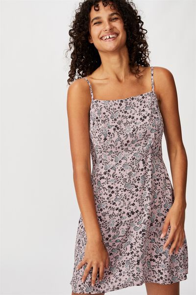 Woven Kendall Mini Dress, BLAIR FLORAL PAISLEY KEEPSAKE LILAC