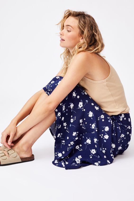 All Day Slip Skirt, SABRA FLORAL NAVY
