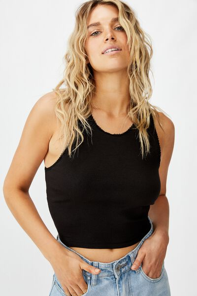 The Sweetheart Tank, BLACK