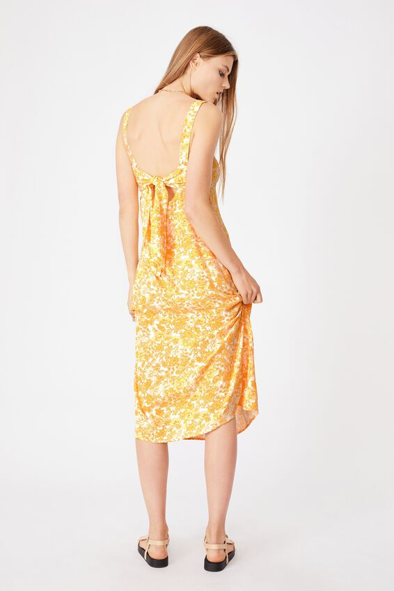 Woven Millie Tie Back Midi Dress, JULIA FLORAL MANGO