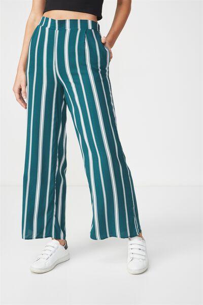 Wide Leg Pant, LIZA VERTICAL STRIPE WHITE