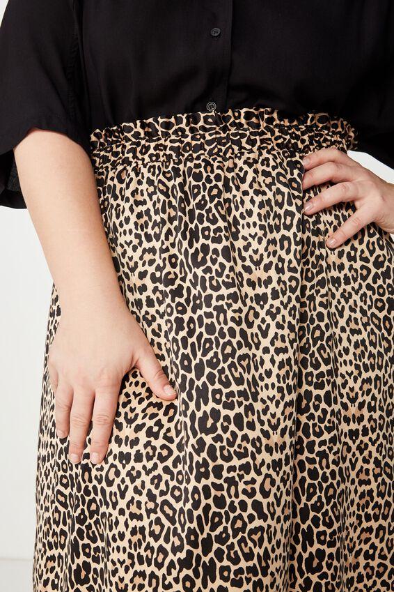 Curve Gathered Skirt, CHESKA CHEETA
