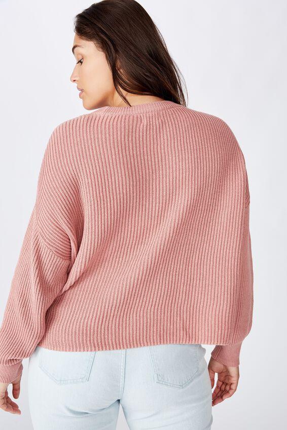 Curve Crop Pullover, OLD ROSE