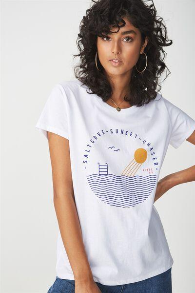 Tbar Fox Graphic T Shirt, SALTCOVE/WHITE