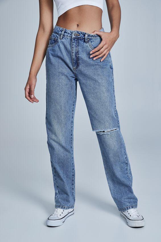 Long Straight Jean, WATEGOS BLUE RIP