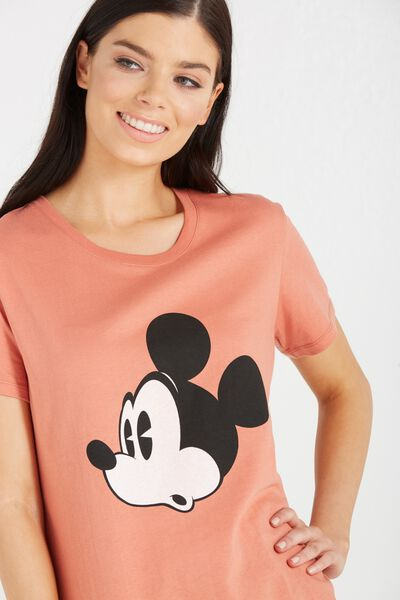 Tbar Fox Graphic T Shirt, LCN SURPRISE MICKEY/BURNT SIENNA