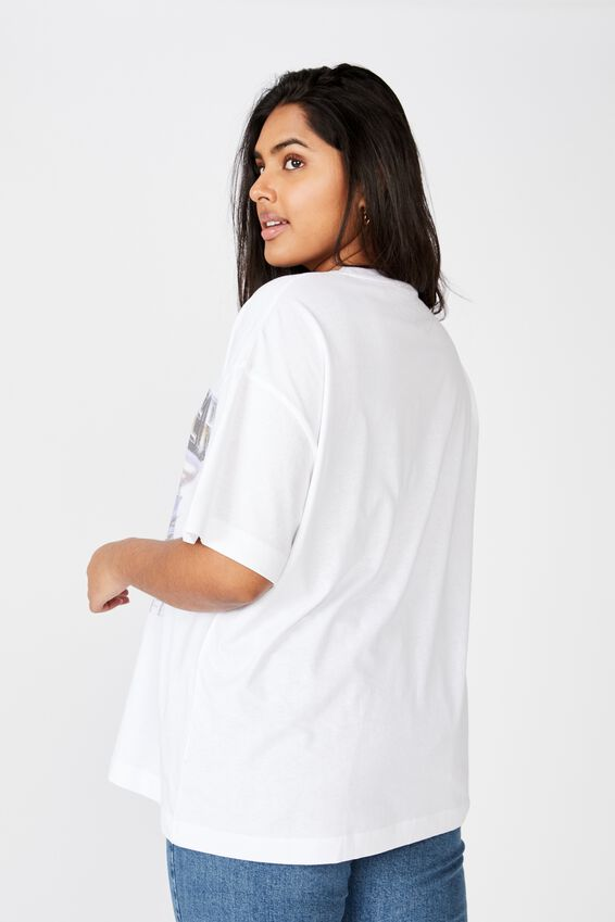 Curve Oversized Graphic Tee, AMERICAN THUNDER/WHITE