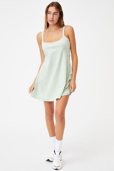 Turner Strappy Mini Dress, LUSH GREEN