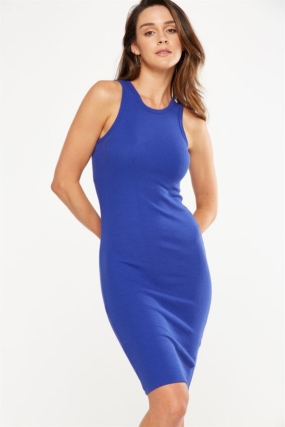 Lena Midi Dress, CLEMATIS RIB