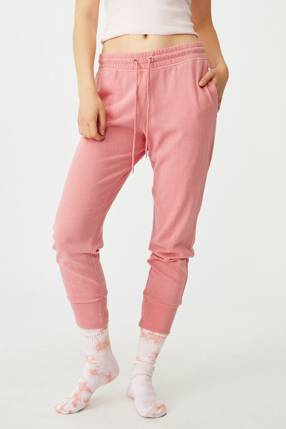 Your Favourite Track Pant, STARWBERRY GARMENT PIGMENT DYE