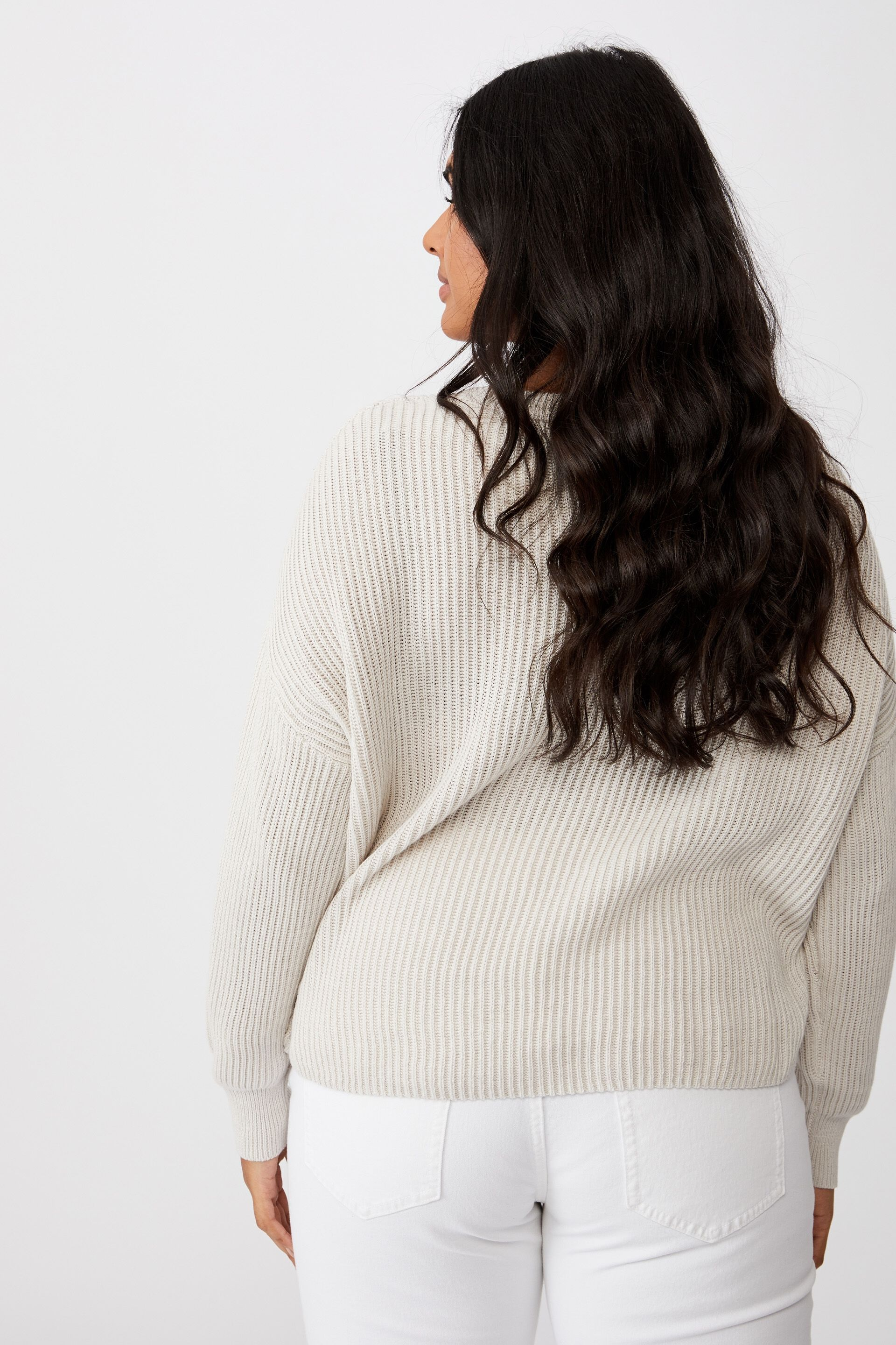 Curve Crop Pullover   Cotton On