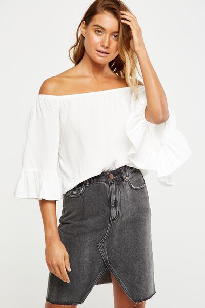 Erin Off The Shoulder Top, WHITE
