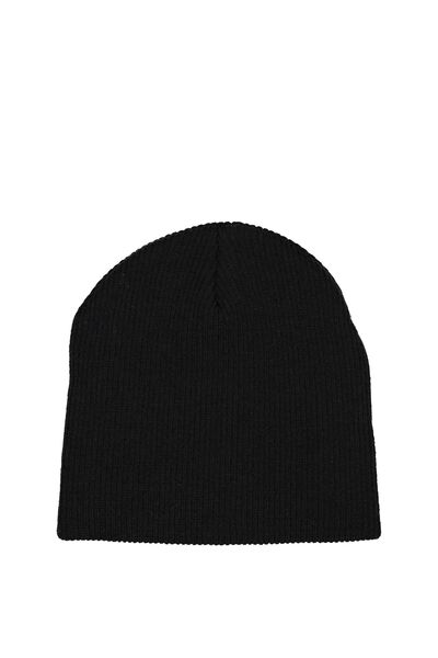 Chill Factor Rib Beanie, BLACK